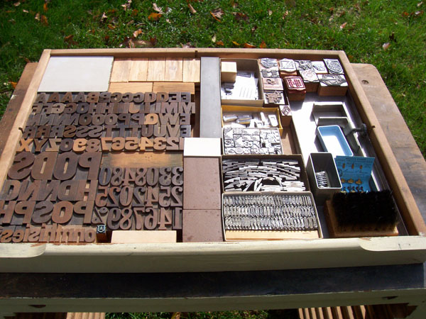 Perfect size type cabinet for a tabletop letterpress for sale with ...