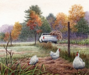 Ladies who Lunch, chickens, Lyme