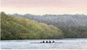 Rowers on Rogers Lake, Old Lyme