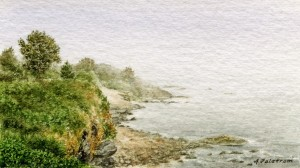 View from the Cliff Walk, Rhode Islan
